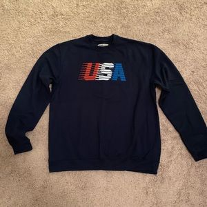 USA Crew-neck Sweater in Navy by Rowdy Gentlemen